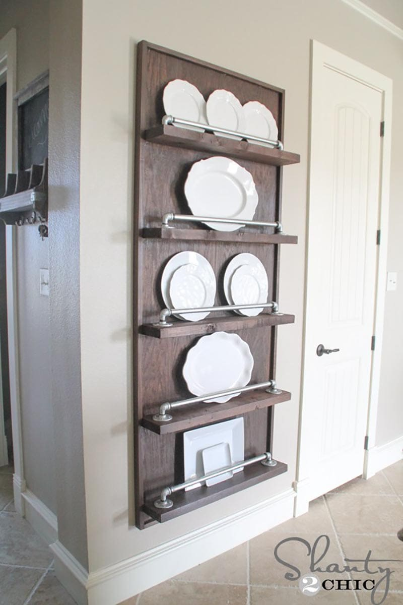 Fabulous Diy Farmhouse Plate Racks You Can Make The Cottage Market